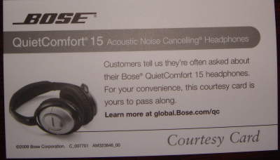 Bose business card