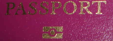 RFID logo on UK passport cover