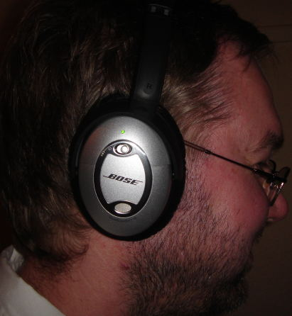 Me wearing QC 15 headphones