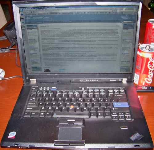 picture of my new Thinkpad T61