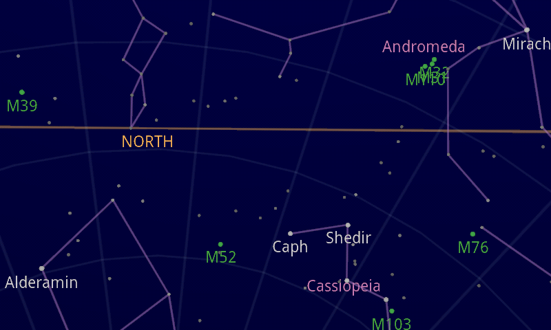 picture of Google Sky Map in the direction of Andromeda