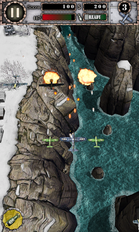 Air Attack HD game, clone of 1942