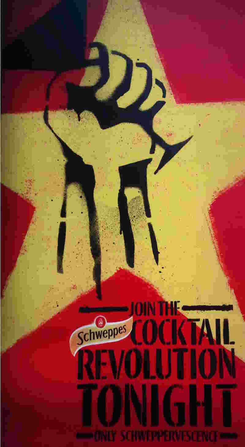 communist revolution Schweppes drinks