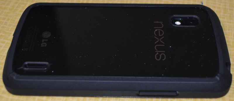 LG Nexus 4 phone with Ringke Fusion case