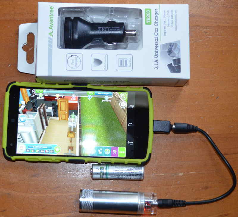 AA battery charger and 3.1A car charger