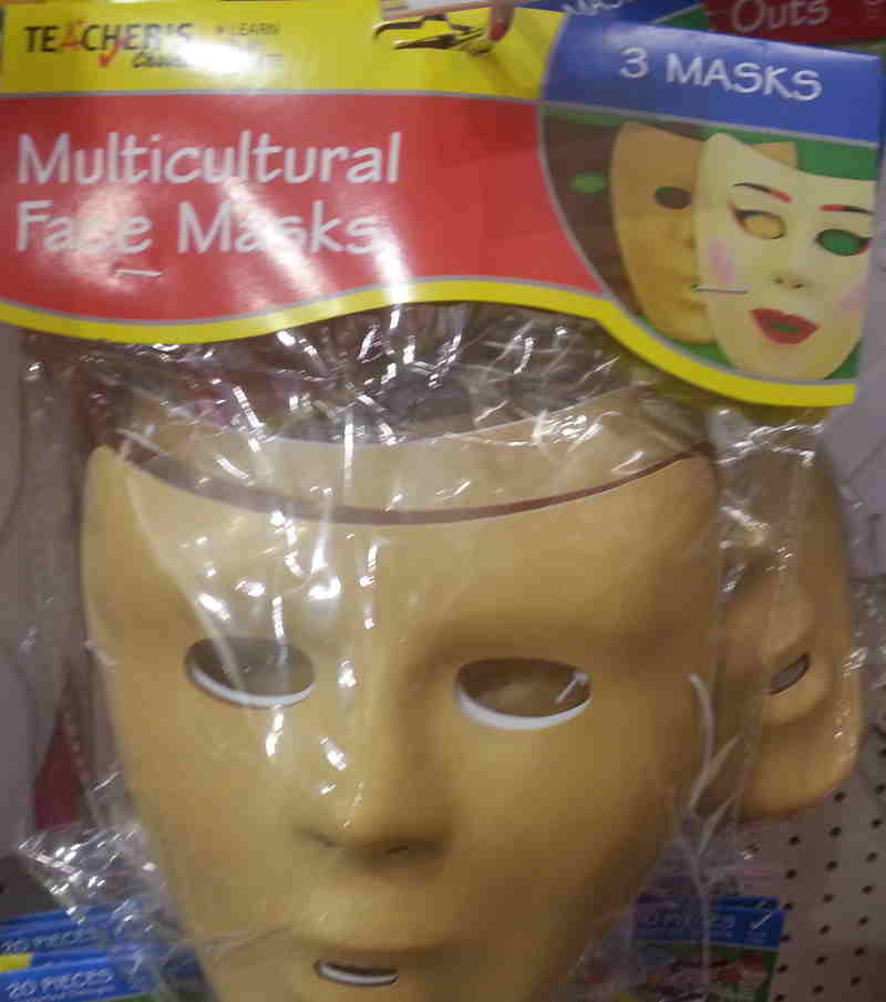 teachers choice blackface and yellowface masks