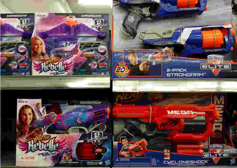 gendered nerf weaponary